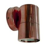 Fixed copper round wall light
